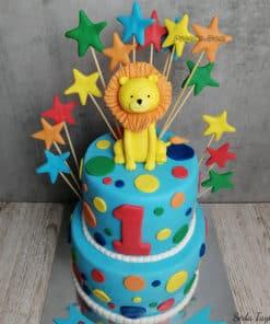 Aslanlı 1 yaş Doğum Günü Pastası
