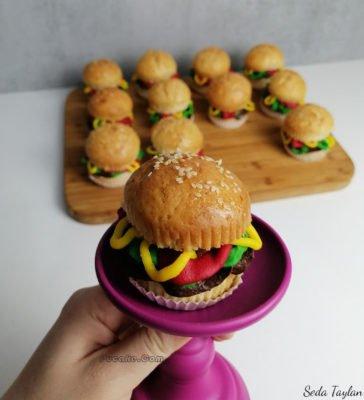 Hamburger-Cupcake-Ankara