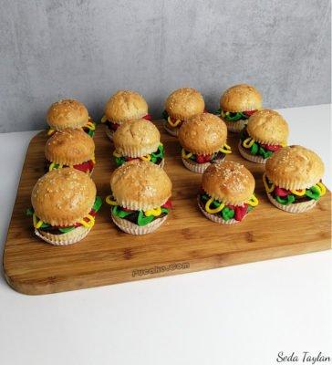 Hamburger-Cupcake-Siparis