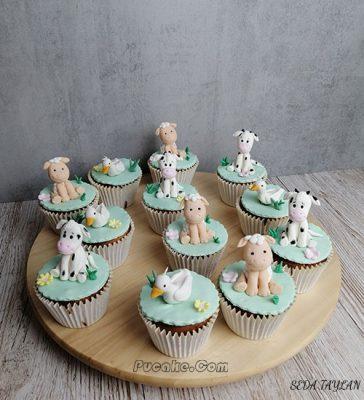 Hayvan Figürlü Cupcake