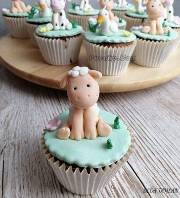 Kuzu Figür Cupcake